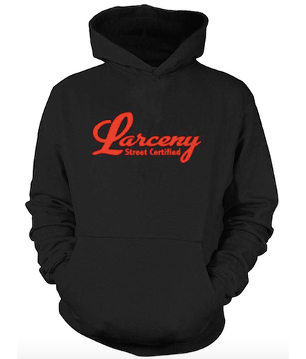 Larceny Street Certified Hoody Red Black